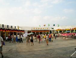 啤酒大棚:青岛国际啤酒节(汇泉广场)