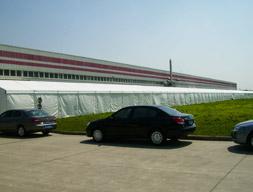 仓储帐篷:苏州爱美克空气过滤器仓储帐篷